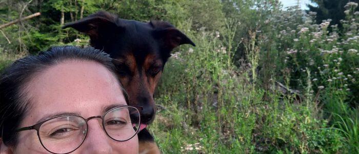 Selfie im Wald *Lieblingstrick*